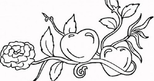 Hearts Flowers Coloring Pages For Kids >> Disney Coloring