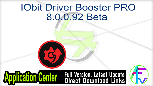 IObit Driver Booster PRO 8.0.0.92 Beta