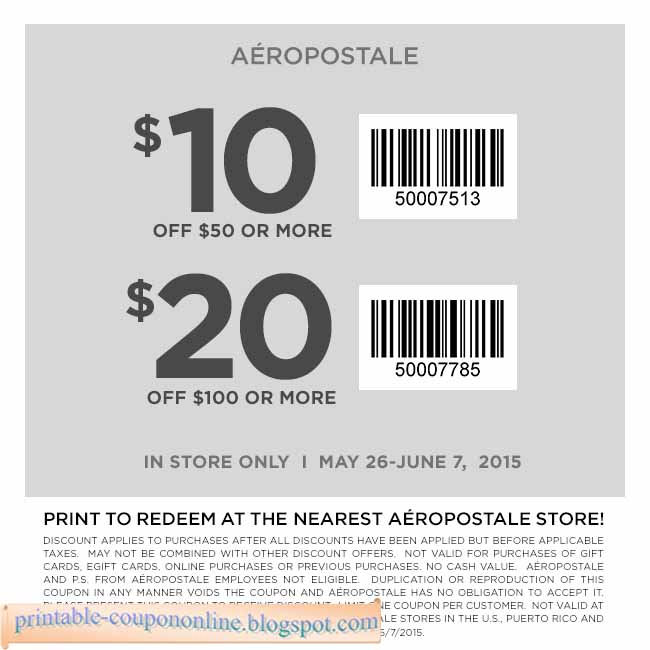 Coupon code for aeropostale