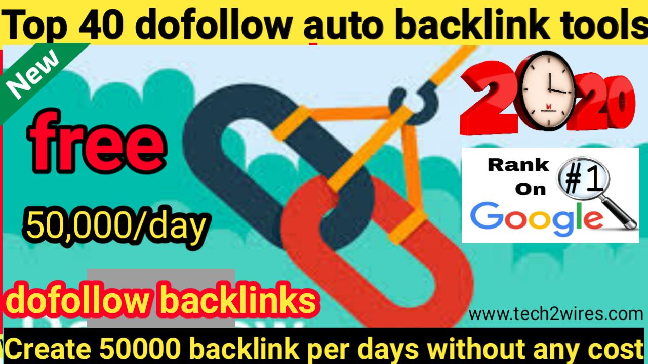 40 Free dofollow backlink generator tools | Auto backlink generator online  | Create dofollow backlinks - Tech2 wires