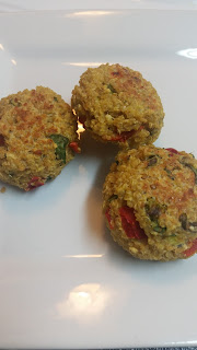 Turning Mommy greek style quinoa cakes