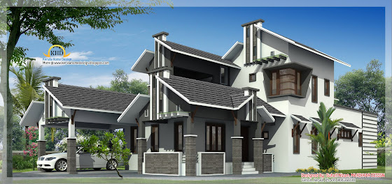 Duplex House Elevation - 255 Sq M (2740 Sq. Ft) - January 2011