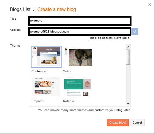 how to create a blog for free