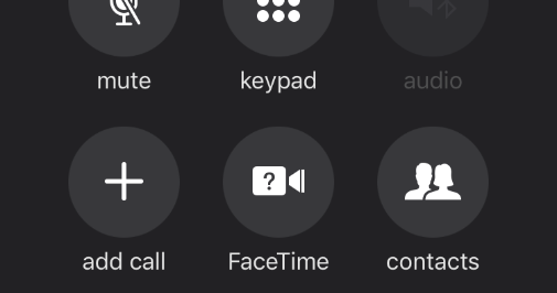 iPhone 7/8/X speaker grayed out from call screen after