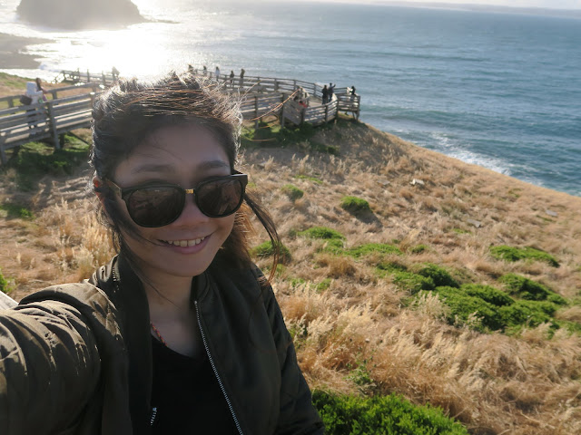 selfie, Nobbies Ocean Discovery Centre, Philip Island, Melbourne, Australia