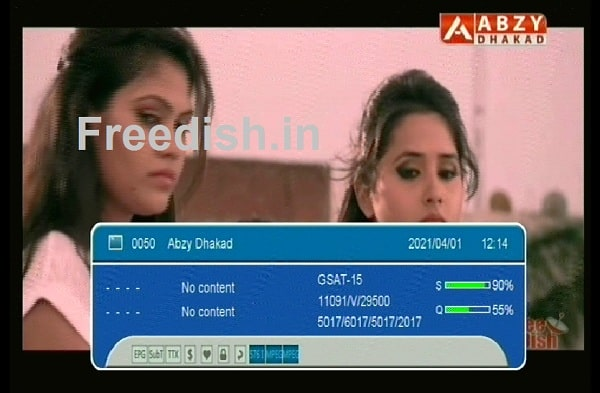 ABZY Dhakad Channel Frequency and Channel Number on DD Free dish