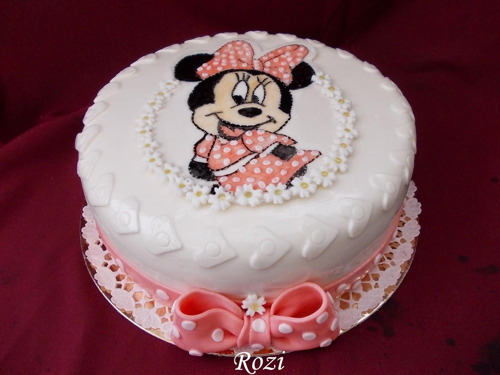 minnie torta képek Rozi Erdélyi konyhája: Minnie egér torta minnie torta képek