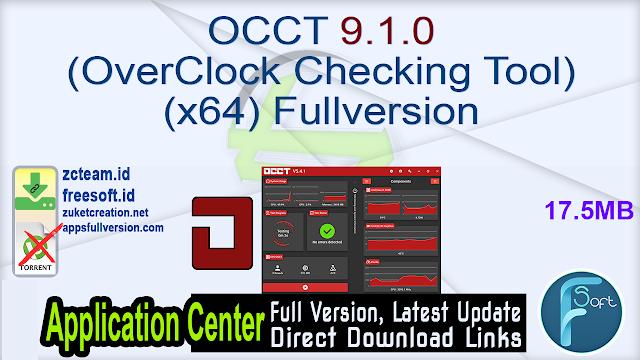 OCCT 9.1.0 (OverClock Checking Tool) (x64) Fullversion