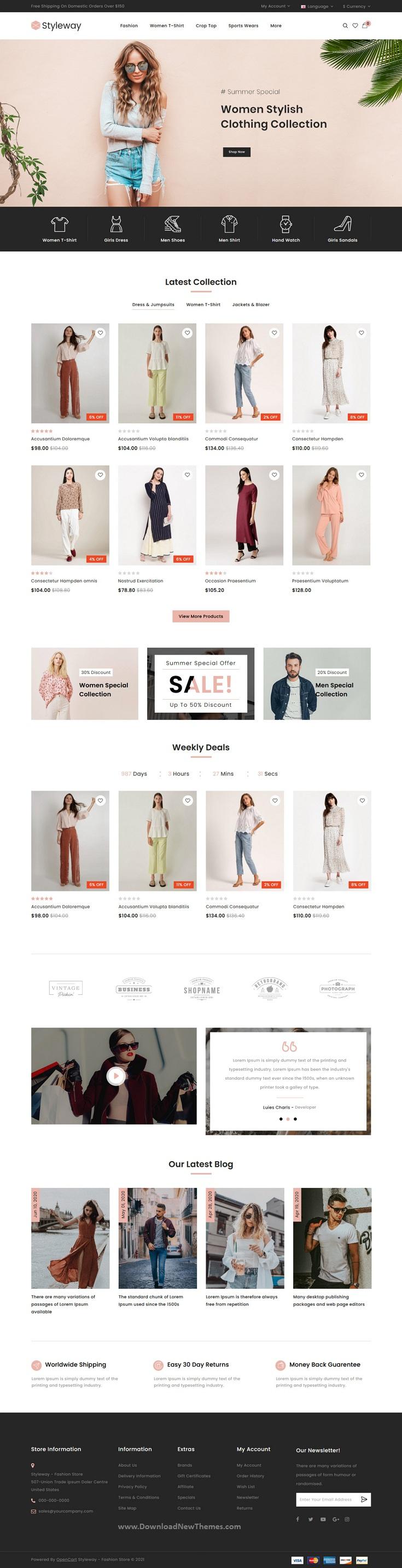 Online Fashion OpenCart Responsive Theme