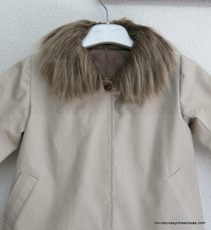 abrigo con cuello postizo