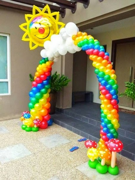 Decoracion Hawaiana En Globos ~ Decoraci?n para fiestas con globos ~ cositasconmesh