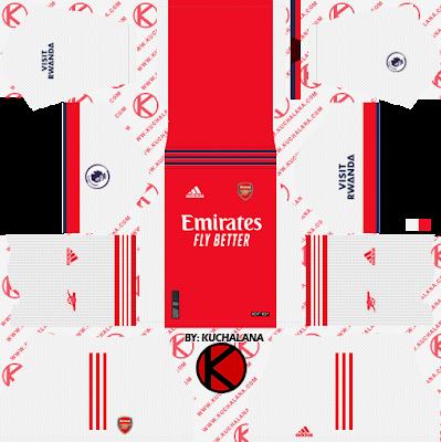 Bộ đồ đá banh của Arsenal 2021-22 - DLS2019