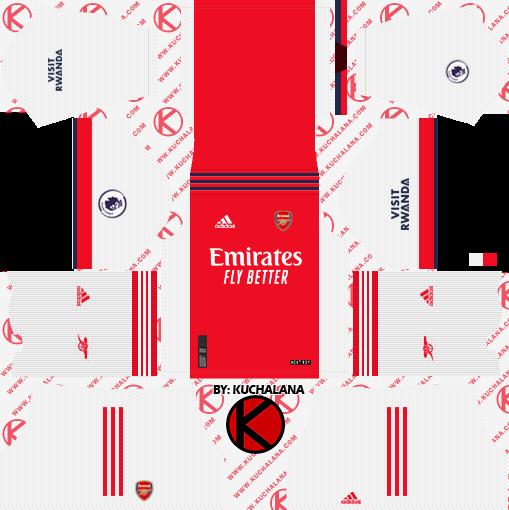 Arsenal 2021-22 Adidas Kit - DLS2019