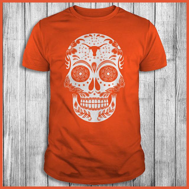 Texas Longhorns Sugar Skull T-Shirt