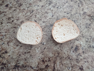 two pieces of gluten free bread