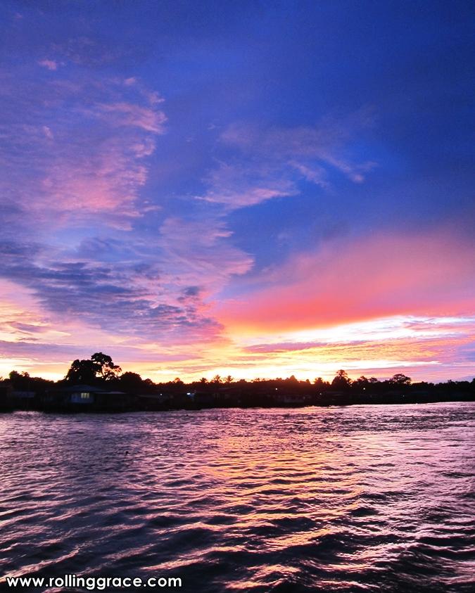 sunset in Limbang, Sarawak