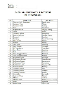 nama 34 ibukota provinsi di indonesia