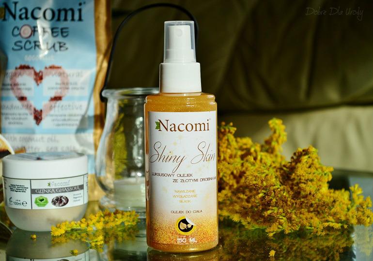 Luksusowy olejek ze złotymi drobinami Nacomi kosmetyki naturalne
