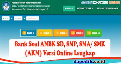 Bank Soal ANBK SD, SMP, SMA dan SMK (AKM)