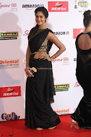 Sindhu looks fabulous in Black Saree designer choli at Mirchi Music Awards South 2017 ~  Exclusive Celebrities Galleries 045.JPG