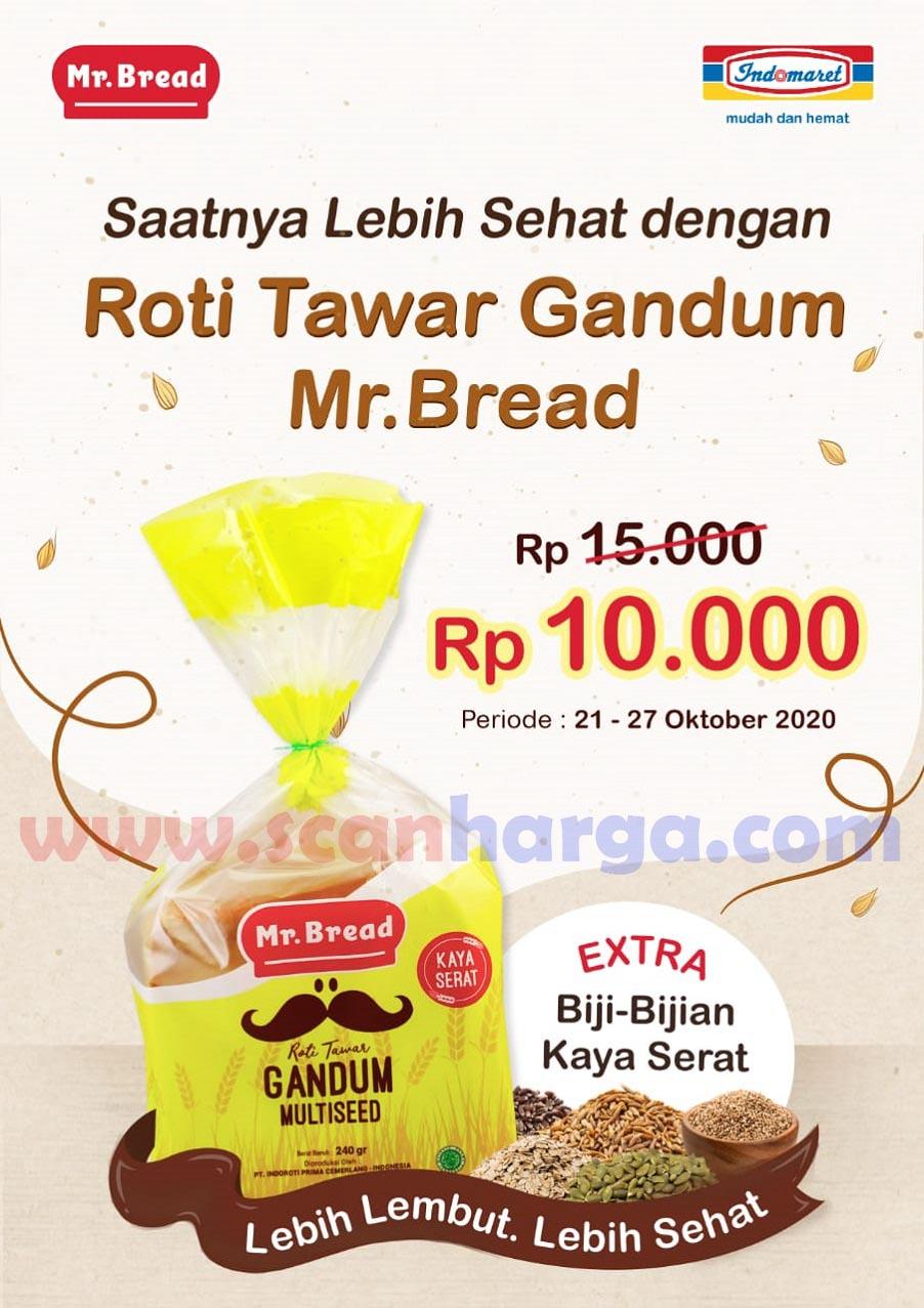 Promo Mr Bread Roti Tawar Gandum Multiseed Harga Cuma Rp 10.000 periode 21 - 27 Oktober 2020