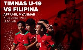Indonesia vs Filipina: Susunan Pemain Timnas U-19