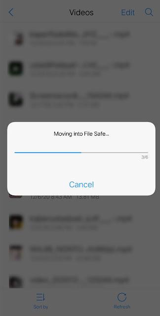 file apa saja yang ingin kamu sembunyikan, lalu More > Move into the file save