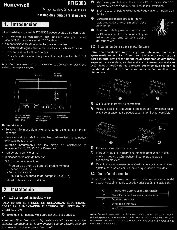 honeywell rth230b thermostat manual [ 945 x 1228 Pixel ]