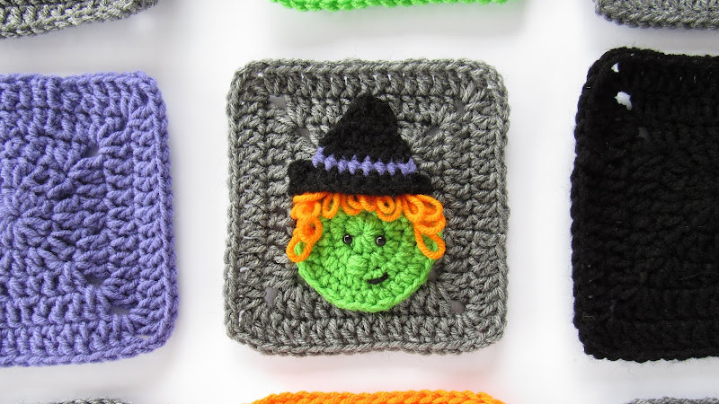 Halloween Witch Granny Square Crochet Pattern