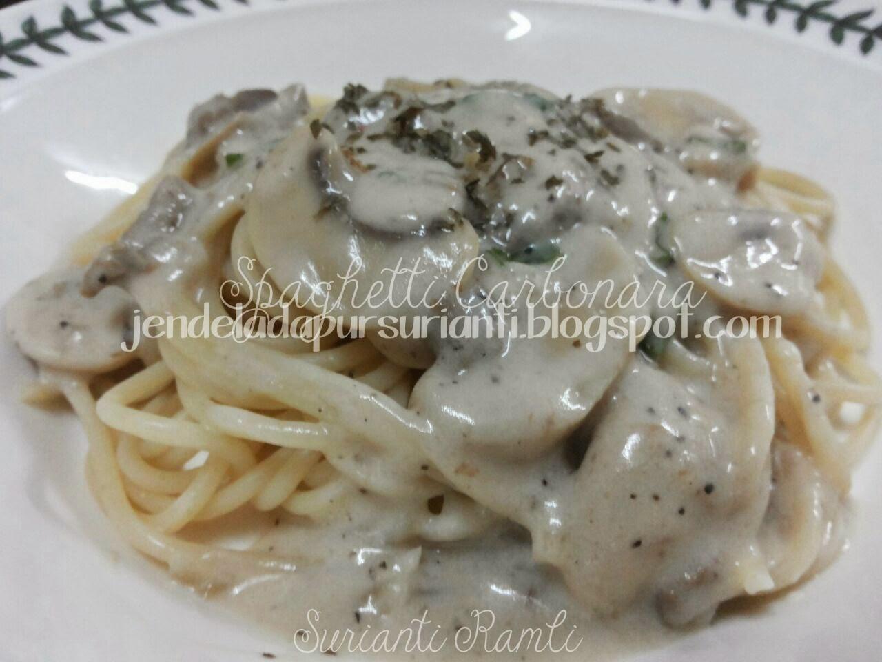 Jom masak: Spaghetti Carbonara mudah