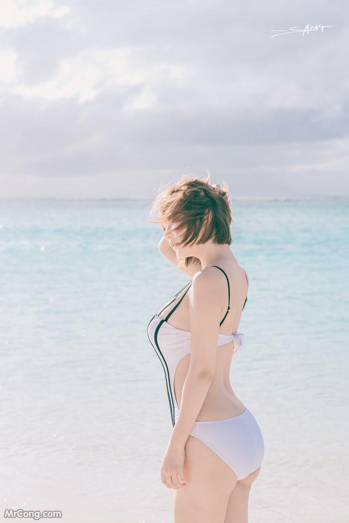 Image Ryu-Ji-Hye-Hot-Thang-4-2017-MrCong.com-005 in post Người đẹp Ryu Ji Hye nóng bỏng khoe dáng cùng trang phục tắm biển 4/2017 (35 ảnh)