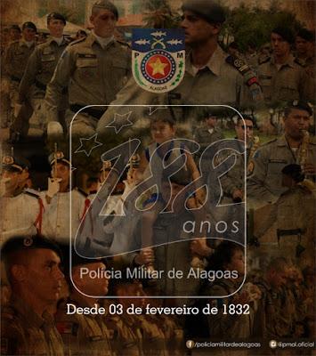 Polícia Militar do Estado de Alagoas completa 188 anos de história