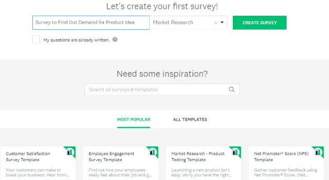survey monkey test ecommerce site store online poll bootstrapping businesses