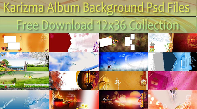 Karizma Album Background Psd 12x36 Collection