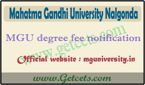MGU degree exam fee last date 2020, MG University time table