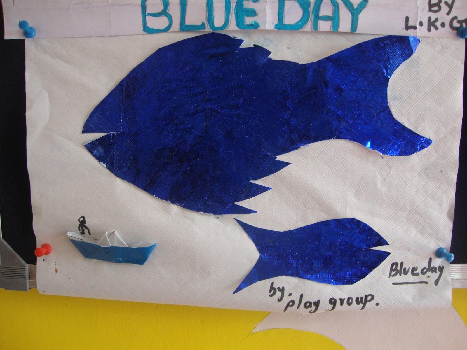 Hello Kids Shiksha Blue Day Activity Pics