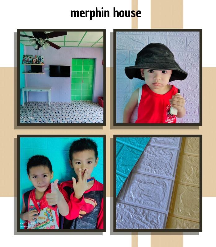 pasang brick wall paper dari shopee