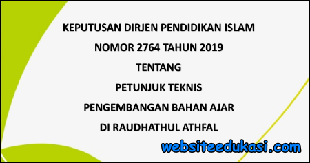 Juknis Pengembangan Bahan Ajar RA 2019