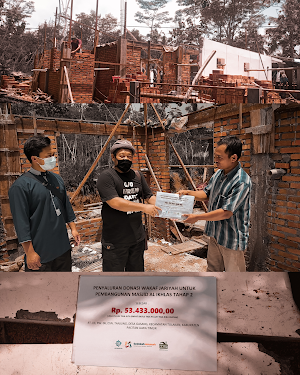 Penyaluran Donasi Pembangunan Masjid Al Ikhlas Tahap #2
