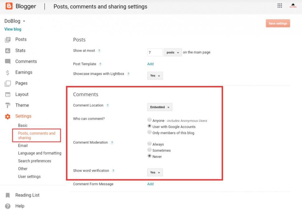 Blogger-comment-system