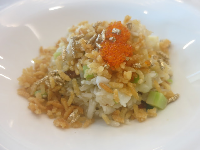 Tobiko Egg White Fried Rice with Crab Meat and Scallop