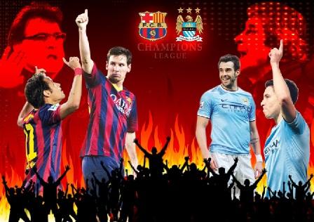 توقيت موعد مباراة برشلونة ومانشستر سيتى القادمة فى مباريات الجولة الثالثة بدورى ابطال اوروبا 2016/2017