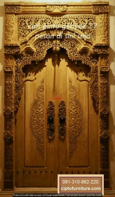 Pintu Gebyok Ukiran Minimalis Untuk Rumah