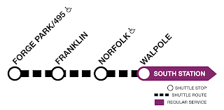 Franklin Line: Shuttle bus to Walpole on weekends through Nov 22