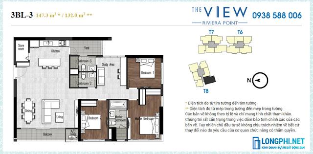 Bán lại giá rẻ căn hộ The View 3 phòng ngủ tháp 8, tầng thấp, view đẹp trung tâm Phú Mỹ Hưng.
