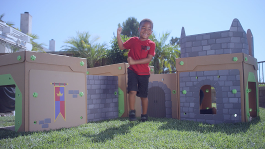 BigBoxPlay Life Sized Cardboard Fort Play System - On Kickstarter Now!