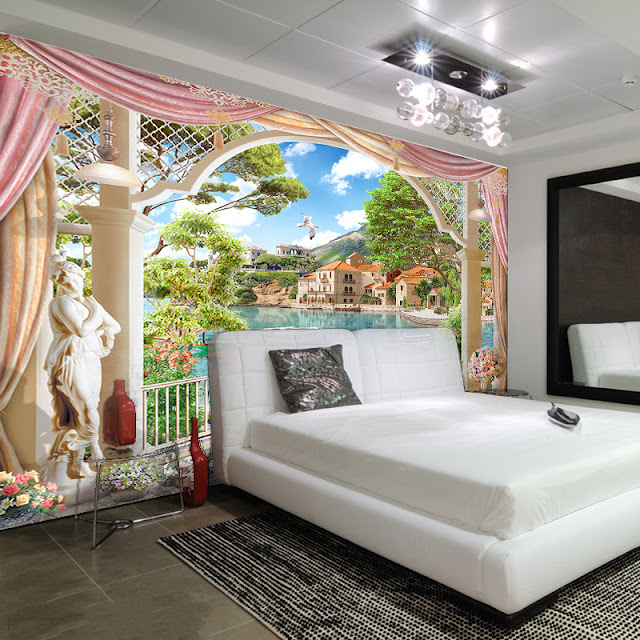 Photo Wallpaper for Bedroom Wall Murals 3D window