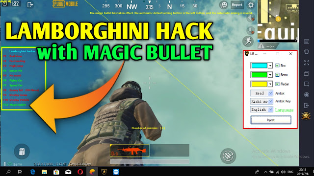 هكر ببجي من محاكي تينسنت 0.13.5 LB HACK v1.5 ESP + Aimbot + Fly + Fast Landing + God View + Magic Bullet
