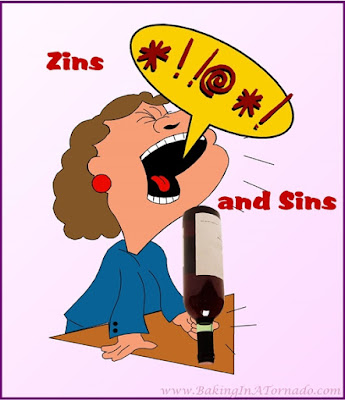 Zins and Sins, the seven deadly kind. | Graphic created by and property of www.BakingInATornado.com | #MyGraphics #humor