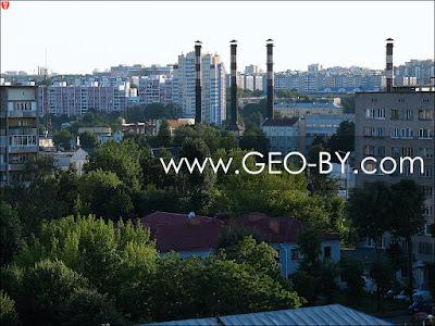 Минск. Вид с крыши на улицу Аранскую
